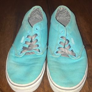 Vans Shoes | Turquoise And Grey Vans